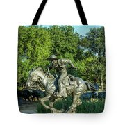 Pioneer Plaza Cattle Drive Monument Dallas Tote Bag