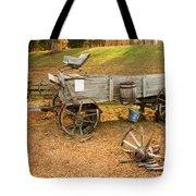 Pioneer Wagon And Broken Wheel Tote Bag