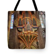 Pipe Organ In Strasbourg Cathedral Tote Bag