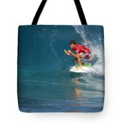 Pipeline Masters Champion Tote Bag by Kevin Smith