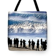 Pipeline Shadow Land - 2 Of 3 Tote Bag