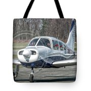 Piper Pa28 I-cnpg Taxiing To The Runway Tote Bag