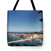 Piran Slovenia Gulf Of Trieste On The Adriatic Sea From The Punt Tote Bag