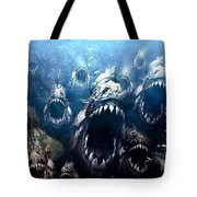 Piranha 3d Tote Bag