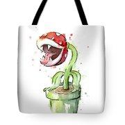 Piranha Plant Watercolor Tote Bag