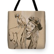 Pirate And Parrot Tote Bag