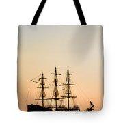 Pirate Boat Tote Bag