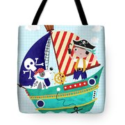 Pirate Of The Carribean Tote Bag