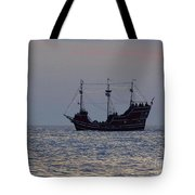 Pirate Ship At Clearwater Tote Bag