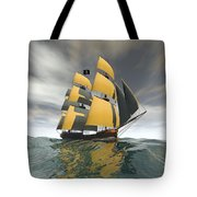 Pirate Ship On The High Seas Tote Bag