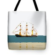 Pirate Ship On The Horizon Tote Bag
