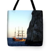 Pirate Ship Sunset Sea Of Cortez Cabo Tote Bag