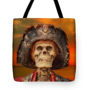 Pirate Skeleton Sunset Tote Bag by Randy Steele