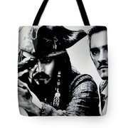Pirates Of The Carribean Tote Bag by Luis Ludzska