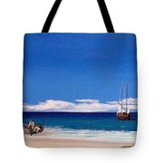 Pirates On The Beach Tote Bag