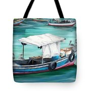 Pirogue Fishing Boat  Tote Bag