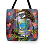 Pisces With Six Fence Lotus Tote Bag