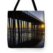 Pismo Sunset Wharf Tote Bag