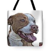 Pit Bull Fractal Pop Art - 7773 - F - Wb Tote Bag