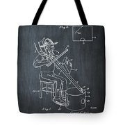 Pitch Fork Fiddle And Drum Patent 1936 - Chalk Tote Bag