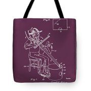 Pitch Fork Fiddle And Drum Patent 1936 - Red Tote Bag
