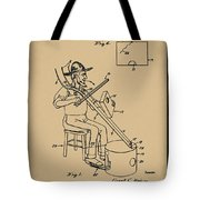 Pitch Fork Fiddle And Drum Patent 1936 - Sepia Tote Bag