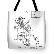 Pitch Fork Fiddle And Drum Patent 1936 - White Tote Bag