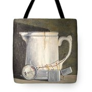 Pitcher, Meter And Matches Still Life Tote Bag