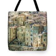 Pitigliano Houses Closeup Grosseto Tuscany Tote Bag