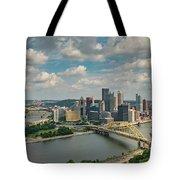 Pittsburg Skyline Tote Bag