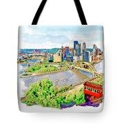 Pittsburgh Aerial View Tote Bag