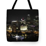 Pittsburgh At Night Tote Bag