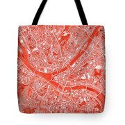 Pittsburgh Map Red Tote Bag