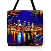 Pittsburgh Skyline Art Tote Bag