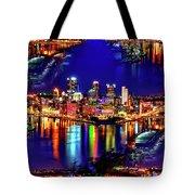Pittsburgh Skyline Art Tote Bag