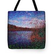 Pixel Lake Tote Bag