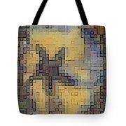Pixel Pansy Tote Bag
