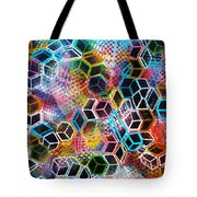 Pixelated Cubes Tote Bag