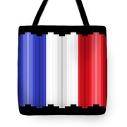Pixilated Tricolore Tote Bag