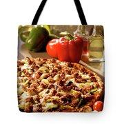 Pizza At Restaurant  Tote Bag