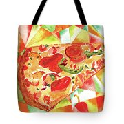 Pizza Pizza Tote Bag by Paula Ayers