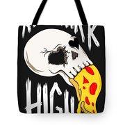 Pizza Skull Tote Bag