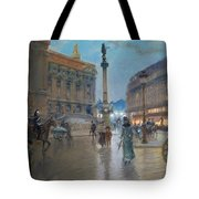 Place De L Opera In Paris Tote Bag by Georges Stein