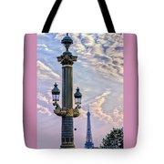 Place De La Concorde View Eiffeltower Tote Bag