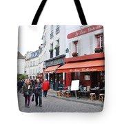 Place Du Tertre In Paris Tote Bag