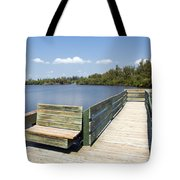 Place For Fishing Or Just Sitting At Round Island In Florida  Tote Bag
