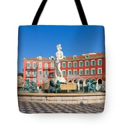 Place Massena Of Nice In France Tote Bag