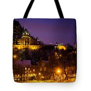 Place-royale At Twilight Quebec City Canada Tote Bag