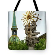 Plague Column And Saint Martin Cathedral Tote Bag
