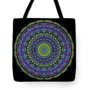 Plaid Wheel Mandala Tote Bag